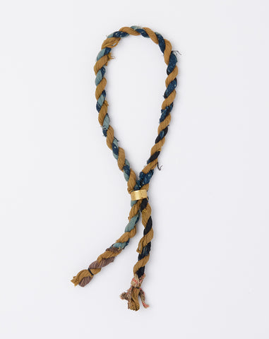 Braided Fabric Lariat in Blue