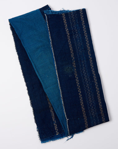 Japanese Oversized Scarf in Indigo