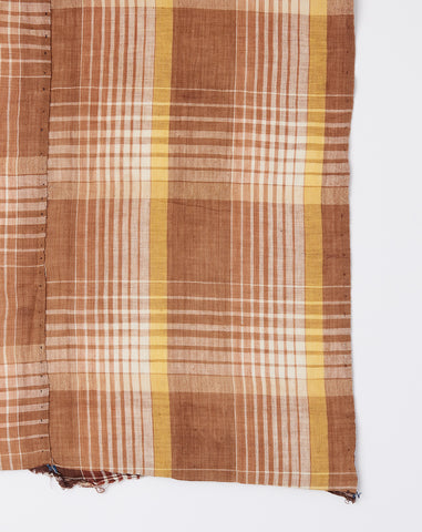 Oversized Scarf in Clay Madras