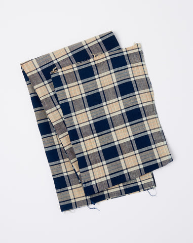 Oversized Scarf in Dark Indigo Madras