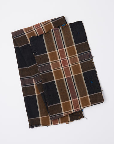 Oversized Scarf in Dark Olive Madras