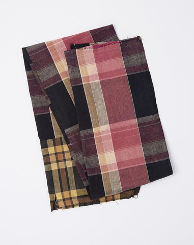 Oversized Scarf in Pink Madras