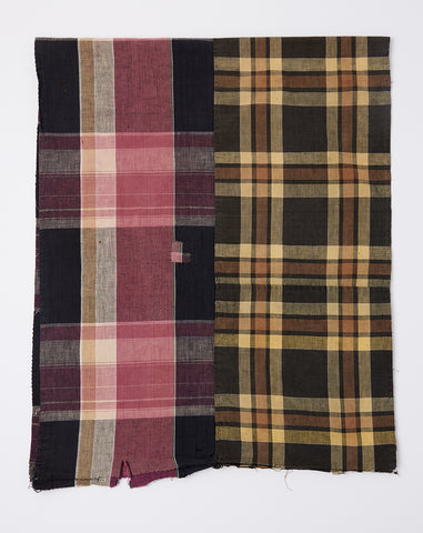 Oversized Scarf in Yellow and Pink Madras