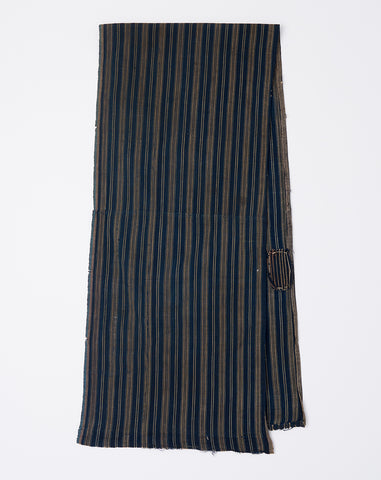 Scarf in Indigo Stripe