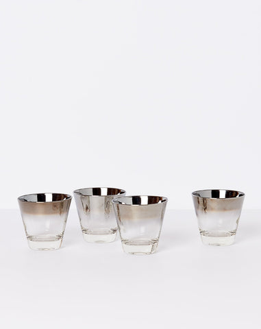 Set of Four Smoked Cocktail Glasses