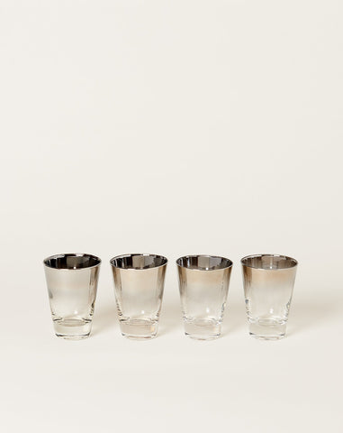 Four Tall Mid Century Modern Shot Glass