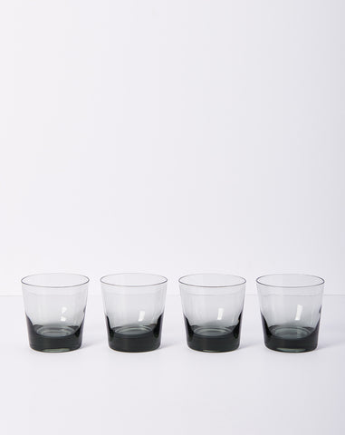 Set of Four Smoked Tumblers