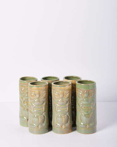 Set of Six Tiki Glasses