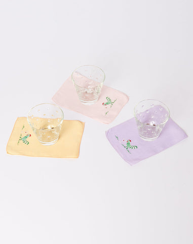Set of Ten Rooster Cocktail Napkins