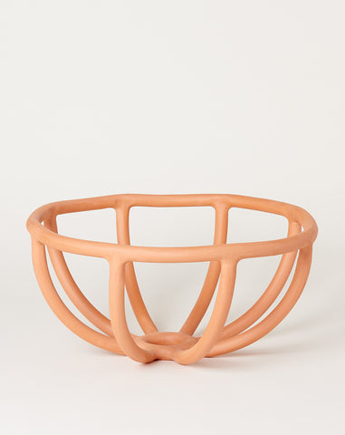 Large Prong Bowl in Terracotta