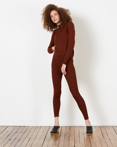 Layering Rib Legging in Currant