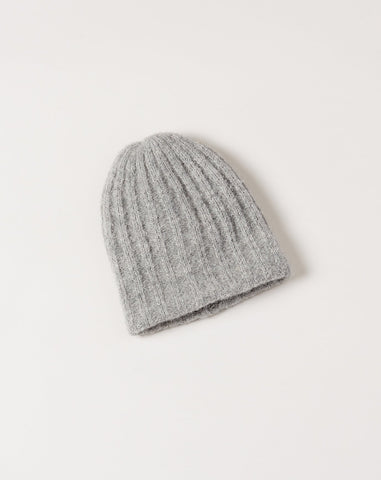 Rib Hat in Heather Grey