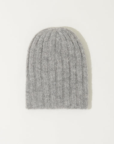 Rib Hat in Heather