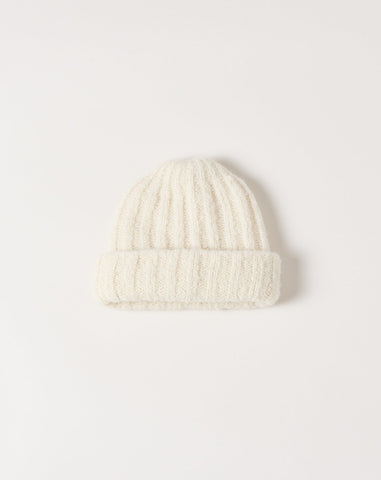 Rib Hat in White