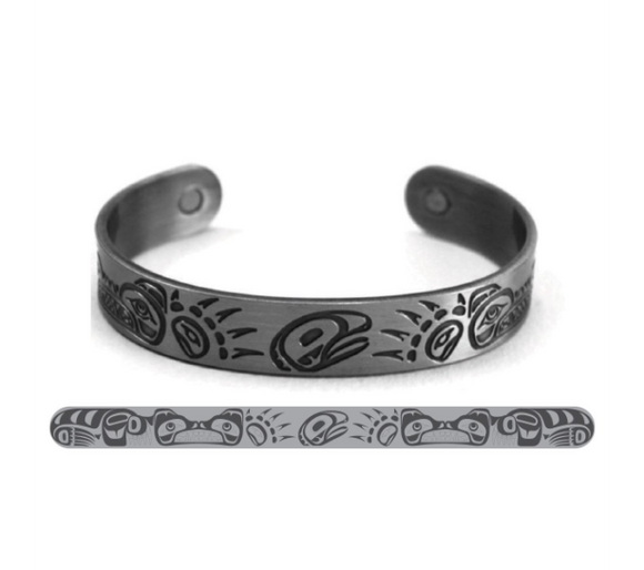 Native Northwest - Brushed Silver Bracelet