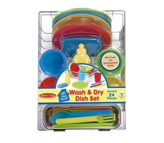 MD Pretend Play Wash & Dry Dish Set