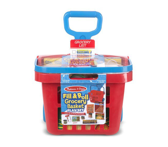 MD Pretend Play Grocery Basket