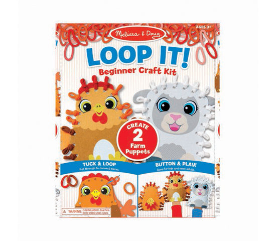 MD Beginner Craft Kit Loop it Farm Puppets