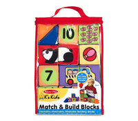 MD K's Kids Match & Build Blocks