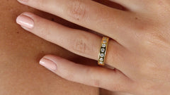 14K Gold & Diamond Gypsy Ring