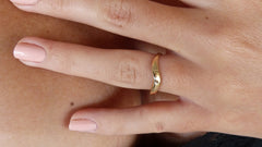 14K Yellow Gold Curved Ring
