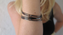 Black Gunmetal Bloom Bangles