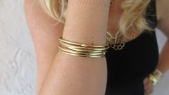 Gold Bloom Bangles