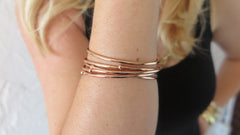 Rose Gold Bloom Bangles