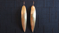 Long Skinny Leaf Earrings