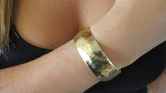 Medium Gold Hammered Cuff