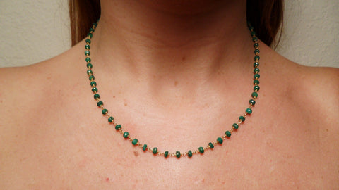 Emerald & Gold Vermeil Chain