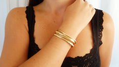 Gold Fill Cuff Set (2 Small, 2 Large)