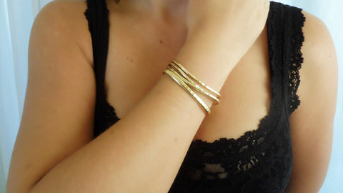 Gold Fill Cuff Set (3 Small, 1 Large)