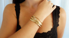 Gold Fill Cuff Set (4 Small, 2 Large)