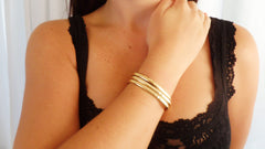 Gold Fill Cuff Set (3 Large)