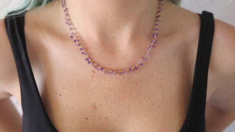 Amethyst Droplet Necklace