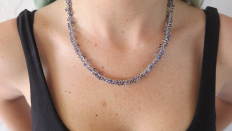Iolite Rope Necklace