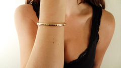 Large Rose Gold Fill Cuff Bracelet