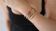 MIXED SET 5 (2 Thin Gold, 2 Thin Rose Gold, 1 Thick Gold, 1 Thick Rose Gold)
