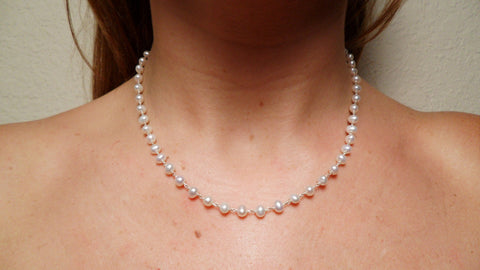 Pearl & Sterling Silver Chain
