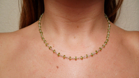 Peridot & Sterling Silver Chain