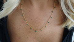 Delicate Emerald Drop Necklace