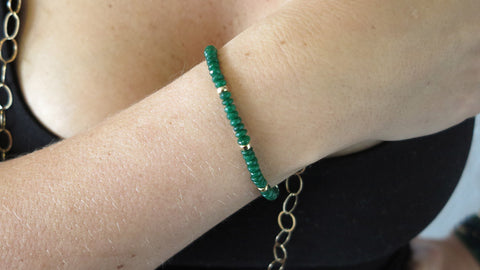 Green Jade Beaded Bracelet (Style 2)