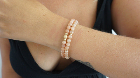 Sandstone Beaded Bracelets (Set of 2)