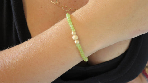 Key Lime Jade Beaded Bracelet (Style 1)