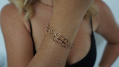 Double Rose Gold Vermeil Bracelet