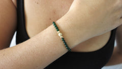 Emerald Jade Beaded Bracelet (Style 1)