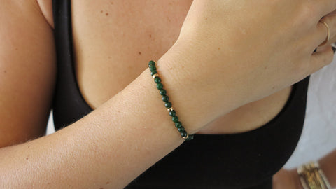 Emerald Jade Beaded Bracelet (Style 2)