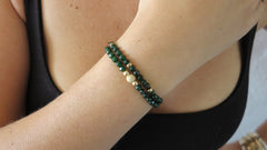 Emerald Jade Beaded Bracelets (Set of 2)