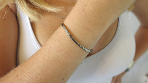 Small Gunmetal Cuff
